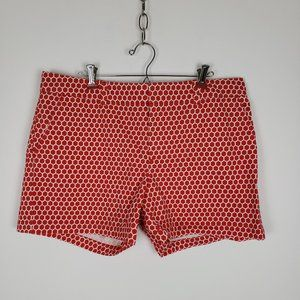 Tommy Hilfiger Women's Red Patterned Shorts Sz 14